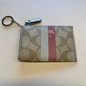 COACH card holder and keychain